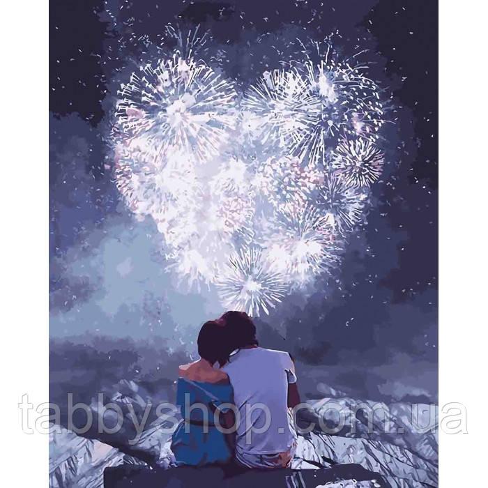 Картина по номерам Идейка - Влюбленные сердца
