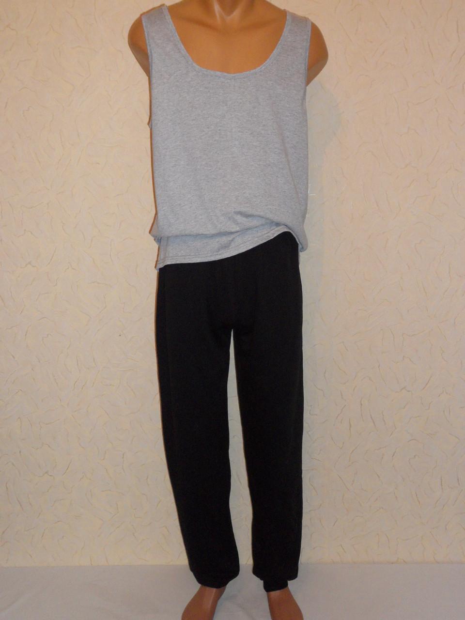 Штаны мужские темные на манжете(начес)без карман