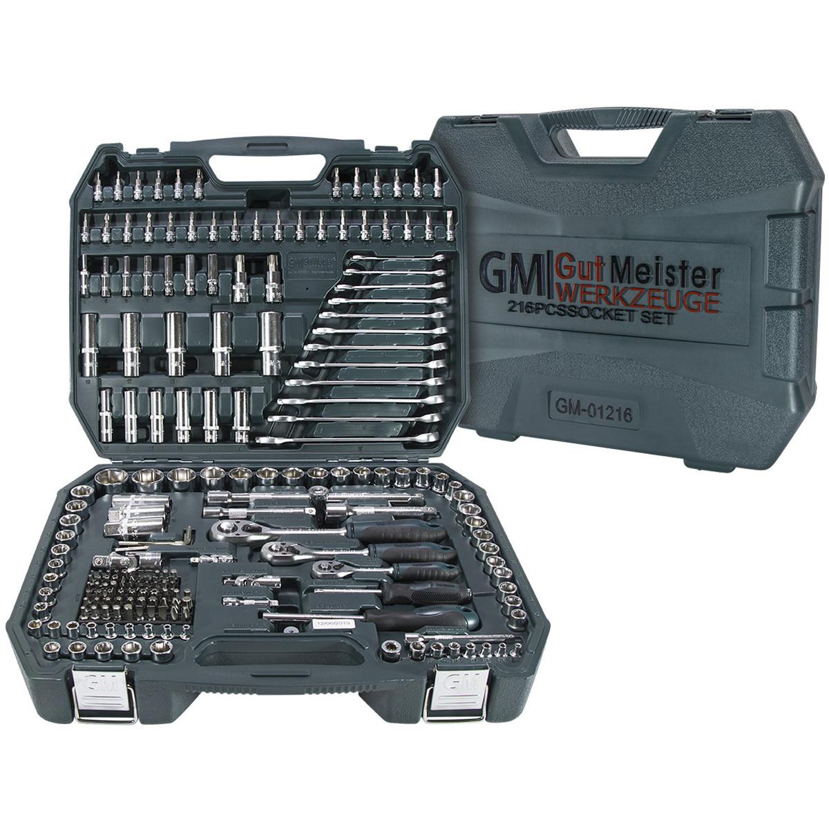 Професійний набір інструментів 216 эл. GUT MEISTER  GM-01216