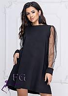 """Платье с прозрачными рукавами """"Муза""""  Распродажа модели, фото 1"""