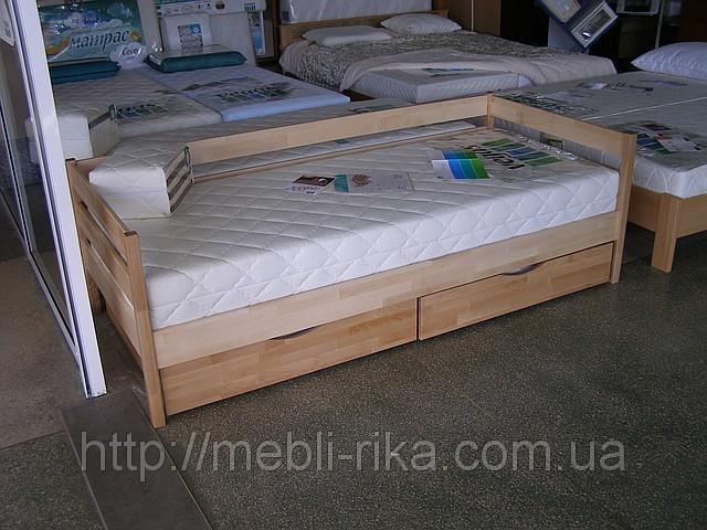 Кровать Нота Эстелла (90*200) (Бук/Масив) (с доставкой)
