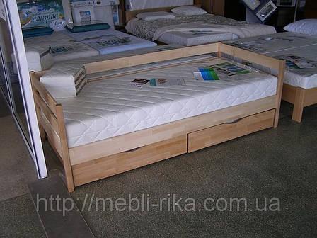 Кровать Нота Эстелла (90*200) (Бук/Масив) (с доставкой), фото 2