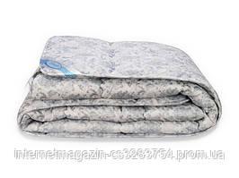 Одеяло Leleka-Textile Лебяжий пух премиум Полуторный 140х205 см Бело-серый (1005503)