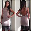 Платье с открытой спиной украшенное кружевом и камнями (разные цвета), фото 3