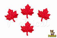 Кленовый лист Красный из Фоамирана (латекса) 2.5 см 10 шт/уп