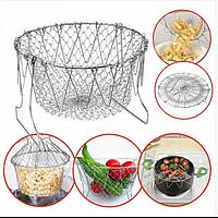 Складная решетка - дуршлаг Magic Kitchen Chef Basket