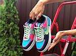 Женские кроссовки Nike Air Force 1 Shadow (серо-салатовые с розовым) 9738, фото 3