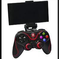 Беспроводной Bluetooth джойстик Gen Game V8 Чёрный с красным