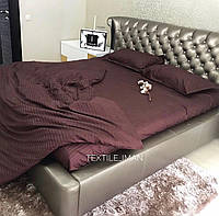 Двуспальный 2-х комплект постельного белья Страйп-Сатин (100% хлопок) Постільна білизна
