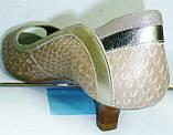 женские кожаные туфли недорого 4004, фото 3