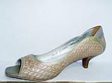 женские кожаные туфли недорого 4004, фото 2