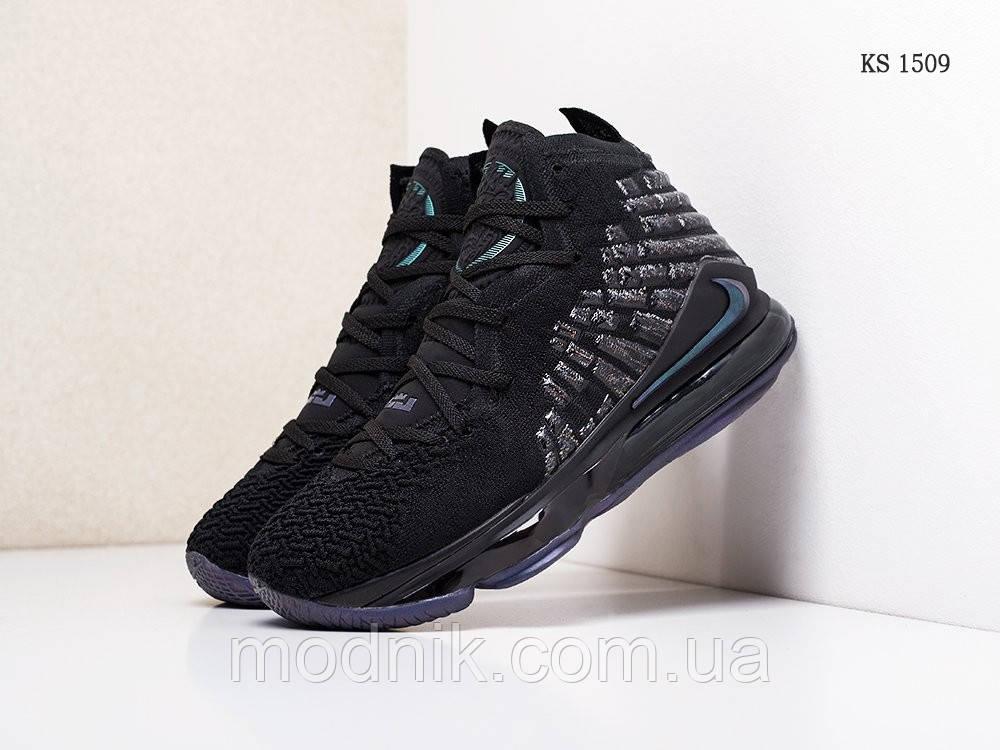 Мужские кроссовки Nike Lebron 17 XVII (черные) KS 1509