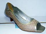 женские кожаные туфли недорого 4004, фото 4