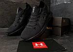 Мужские кроссовки Under Armour Hovr (черные) Рефлективные KS 1512, фото 5