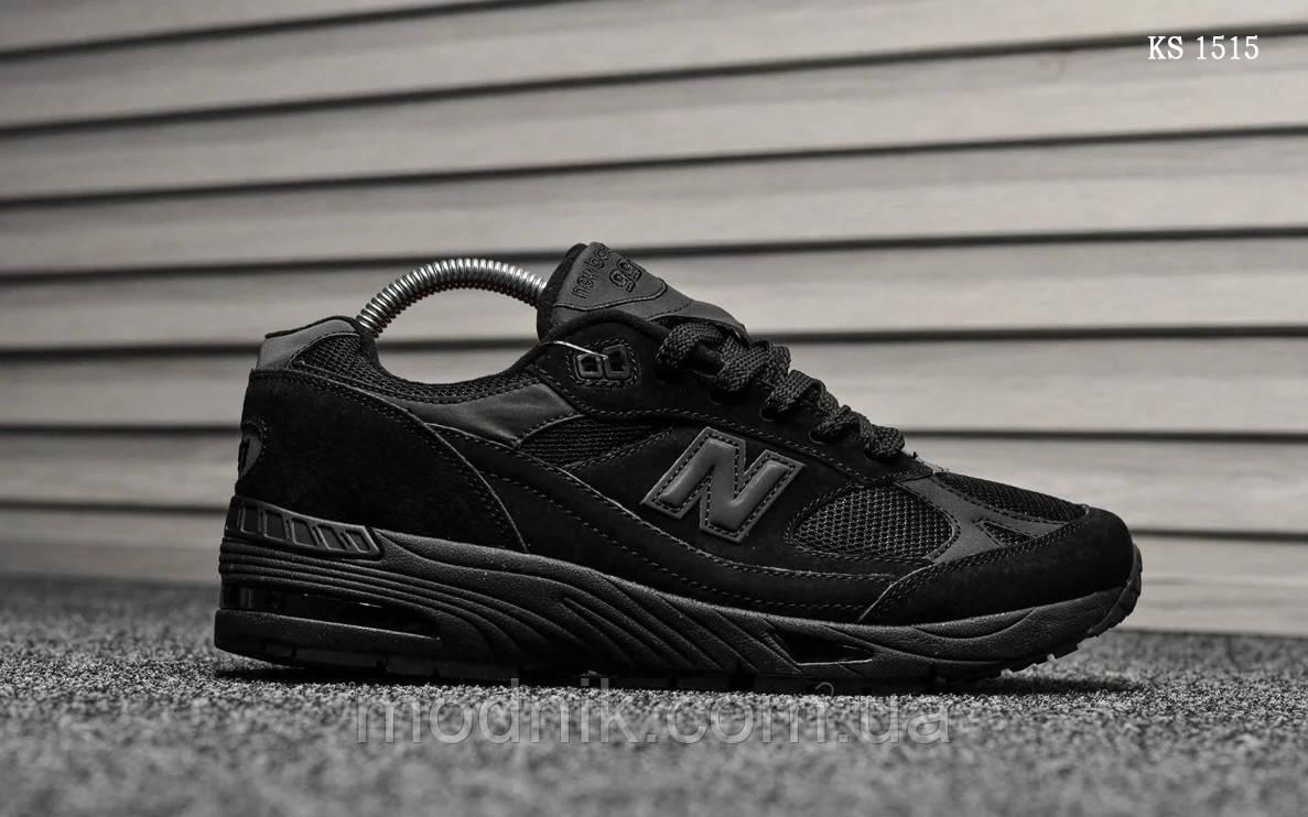 Мужские кроссовки New Balance 991 (черные) KS 1515