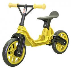 Детский беговел Orion 503, желтый, с регулируемым рулем и бесшумными колесами