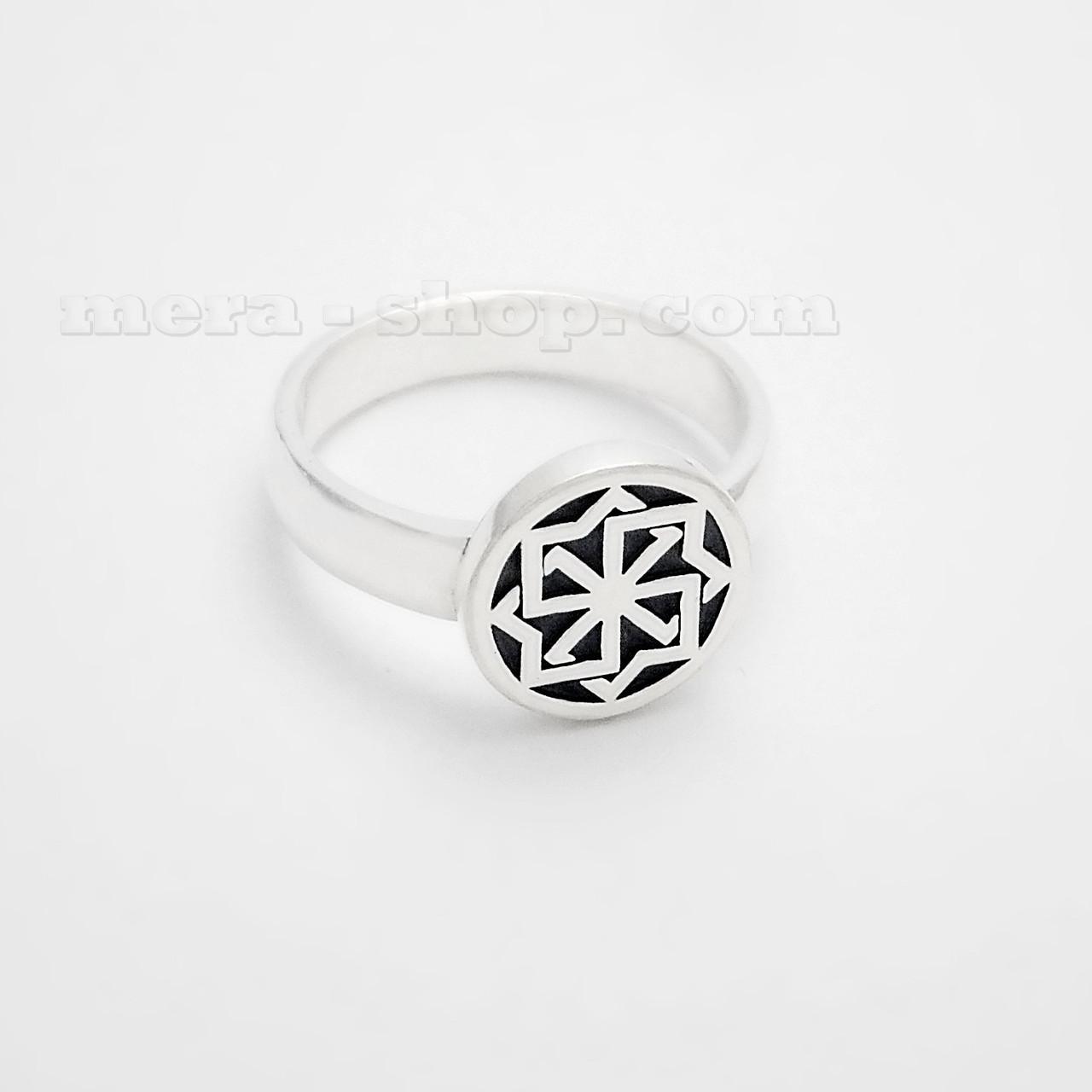 Молвинец кольцо оберег из серебра 925 пробы
