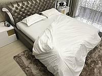 Полуторный комплект постельного белья Страйп-Сатин (100% хлопок) Постільна білизна (не joop)