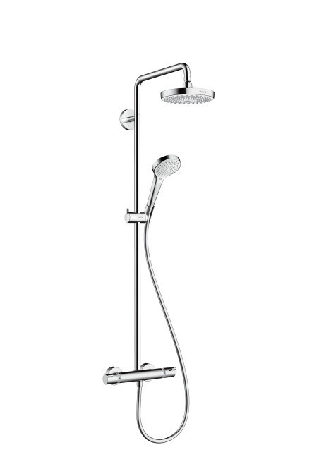 Душевая система цв белый Hansgrohe Croma Select S 180 2jet Showerpipe 27253400