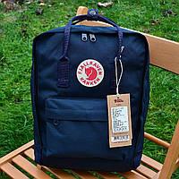 Спортивный рюкзак Kanken Fjall Raven 16L Dark Blue Рефлектив (темно-синий) - Унисекс 467KN