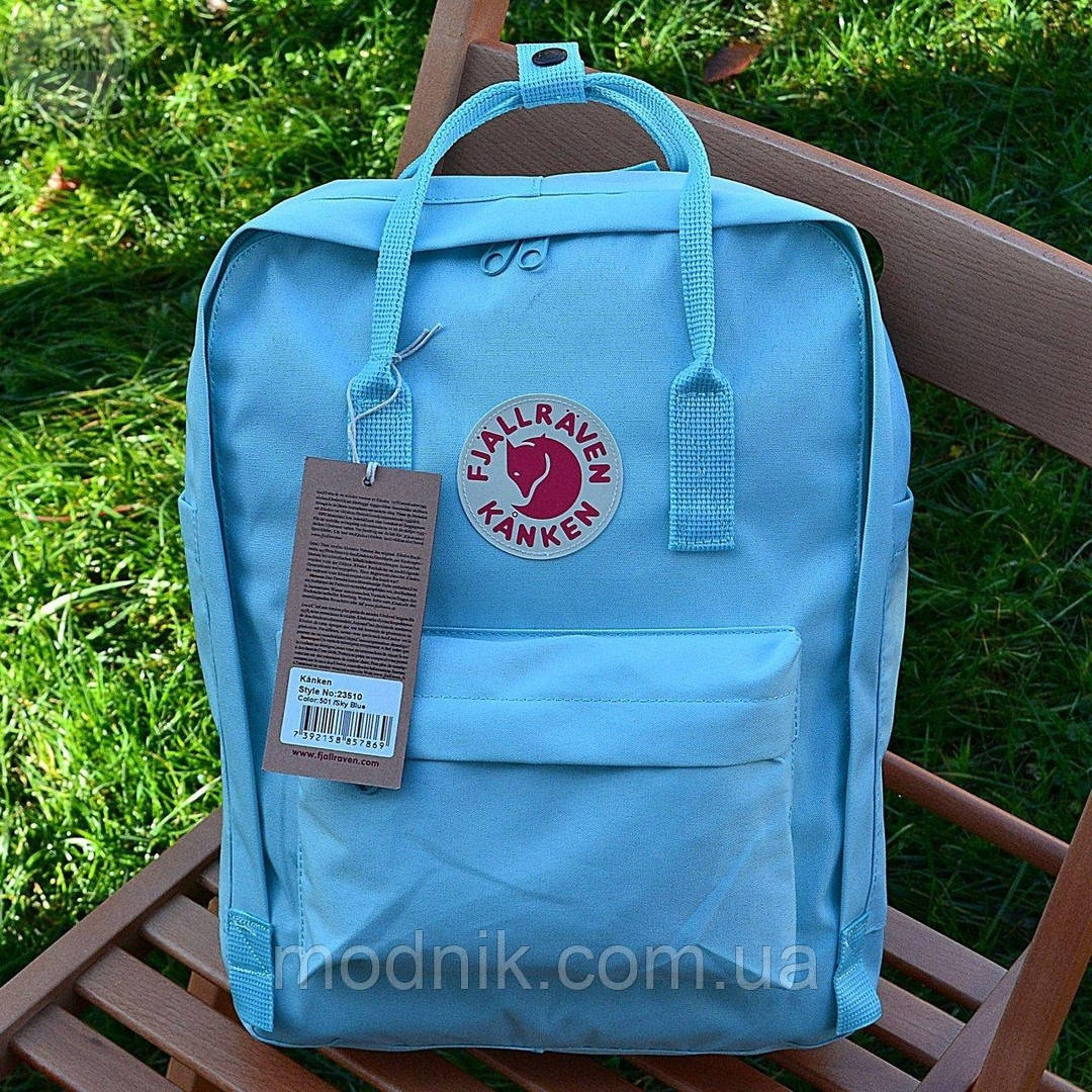 Спортивний рюкзак Kanken Fjall Raven 16L Sky Blue Рефлектив (блакитний) - Унісекс 468KN