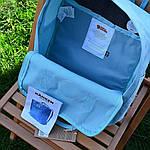 Спортивний рюкзак Kanken Fjall Raven 16L Sky Blue Рефлектив (блакитний) - Унісекс 468KN, фото 3