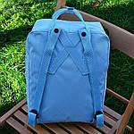 Спортивний рюкзак Kanken Fjall Raven 16L Sky Blue Рефлектив (блакитний) - Унісекс 468KN, фото 4