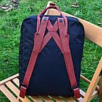 Спортивний рюкзак Kanken Fjall Raven 16L Dark Blue/Red Рефлектив (синьо-червоний) - Унісекс 470KN, фото 5
