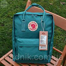 Спортивний рюкзак Kanken Fjall Raven 16L Ocean Green Рефлектив (бірюзовий) - Унісекс 471KN