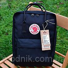Спортивний рюкзак Kanken Fjall Raven 16L Black Рефлектив (чорний) - Унісекс 472KN