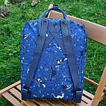Спортивный рюкзак Kanken Fjall Raven 16L Blue Fable Рефлектив (синий) - Унисекс 332KN, фото 4