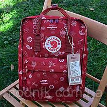 Спортивний рюкзак Kanken Fjall Raven 16L Fu man totem Рефлектив (малиновий) - Унісекс 337KN