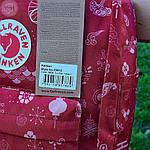 Спортивный рюкзак Kanken Fjall Raven 16L Fu man totem Рефлектив (малиновый) - Унисекс 337KN, фото 4