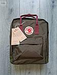 Спортивный рюкзак Kanken Fjall Raven 16L Khaki Рефлектив (хаки) - Унисекс 476KN, фото 2