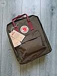 Спортивный рюкзак Kanken Fjall Raven 16L Khaki Рефлектив (хаки) - Унисекс 476KN, фото 4