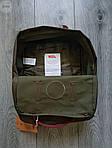 Спортивный рюкзак Kanken Fjall Raven 16L Khaki Рефлектив (хаки) - Унисекс 476KN, фото 6