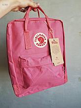 Спортивний рюкзак Kanken Fjall Raven 16L Pink Рефлектив (рожевий) - Унісекс 477KN