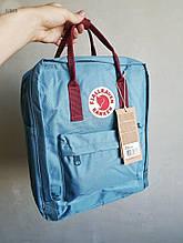Спортивний рюкзак Kanken Fjall Raven 16L Blue/Bordo Рефлектив (блакитний) - Унісекс 478KN