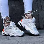Женские демисезонные кроссовки Nike M2K Tekno White/Orange (бело-оранжевые) 480GL, фото 2