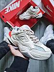 Женские демисезонные кроссовки Nike M2K Tekno White/Orange (бело-оранжевые) 480GL, фото 4