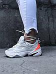 Женские демисезонные кроссовки Nike M2K Tekno White/Orange (бело-оранжевые) 480GL, фото 5