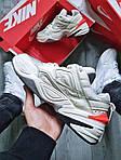 Женские демисезонные кроссовки Nike M2K Tekno White/Orange (бело-оранжевые) 480GL, фото 7