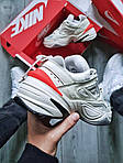 Женские демисезонные кроссовки Nike M2K Tekno White/Orange (бело-оранжевые) 480GL, фото 8