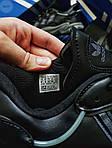 Мужские кроссовки Adidas Ozweego Black Leather (черные) 483TP, фото 4