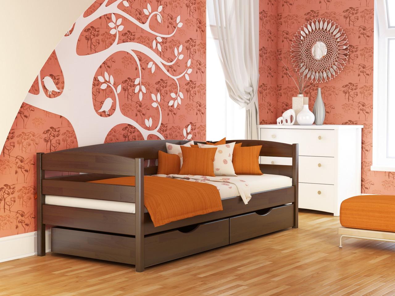 Ліжко Нота Плюс (90*200) (Бук/Масив) (з доставкою)