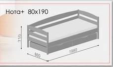 Ліжко Нота Плюс (90*200) (Бук/Масив) (з доставкою), фото 3