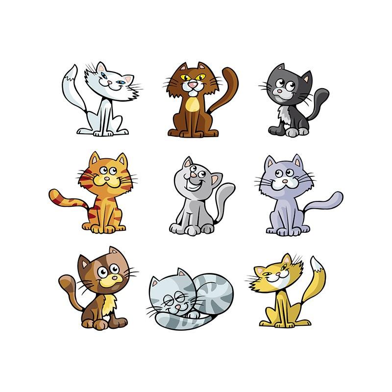 """Наліпка """"Кошенята"""" / Виниловая наклейка """"Котята"""""""