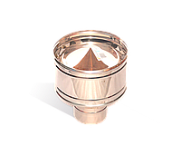 Дефлектор из нержавейки 0,5 мм, диаметр 100мм