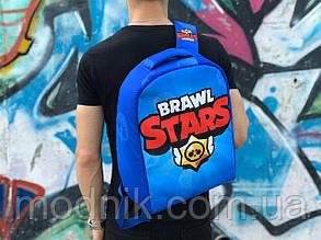 Рюкзак міський Протикрадій Brawl Stars (синій) 1260