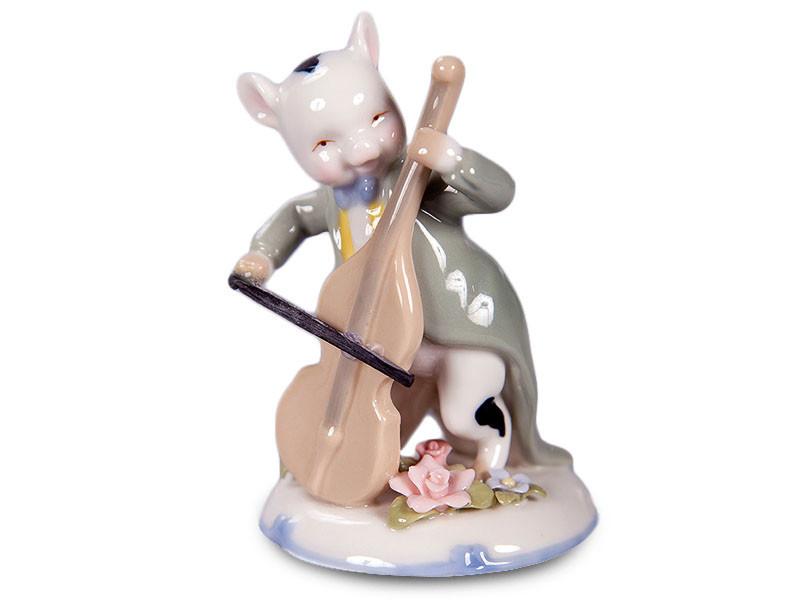 Статуэтка Lefard Поросенок с виолончелью 11 см 461-209